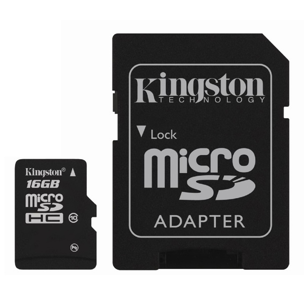 Карта памяти SDHC Micro Kingston SDC10/16GB